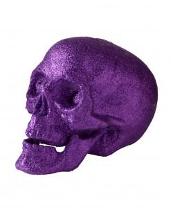7 Large Purple Glitter Skull