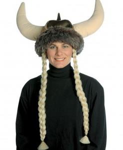 Plush Viking Hat w/Braids
