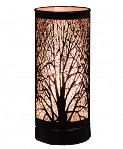 Black 8'' Birch Table Lamp