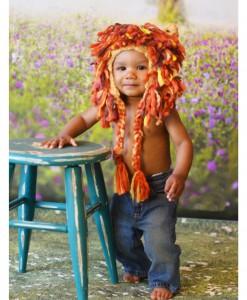 Infant Lion Hat w/ Full Mane