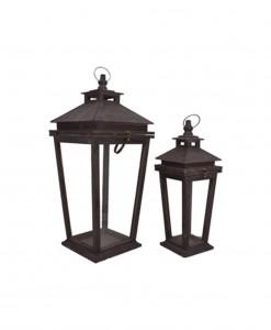 18 & 25'' Square Lantern Set