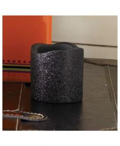 2 Inch Black Glitter LED Candle