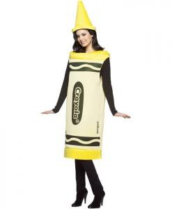 Crayola Yellow Crayon Adult Costume