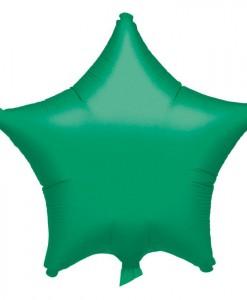 19 Green Star Foil Balloon