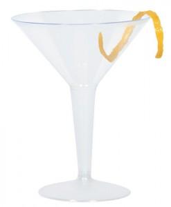 Plastic 8 oz. Martini Glasses (10 count)