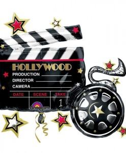 Hollywood Movie Clapboard Jumbo 29 Foil Balloon