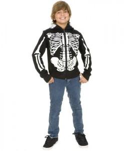 Skeleton Sweatshirt Hoodie Child Costume