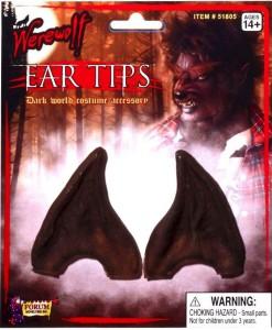 Werewolf Brown Ear Tips Adult