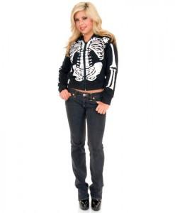 Skeleton Hoodie (Female) Adult Costume