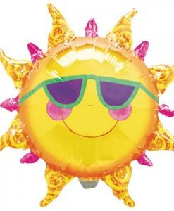 Prismatic Sun Shaped Jumbo Foil Balloon