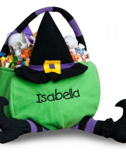 Witch Embroidered Plush Treat Pail