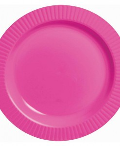 Bright Pink Premium Plastic Banquet Dinner Plates (16 count)
