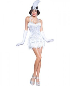Silver Womens Flapper Dress Costume