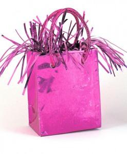 Mini Gift Bag Balloon Weight - Hot Pink
