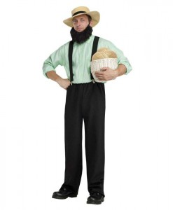 Black Adult Amish Costume
