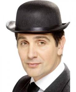 Black Adult Bowler Hat