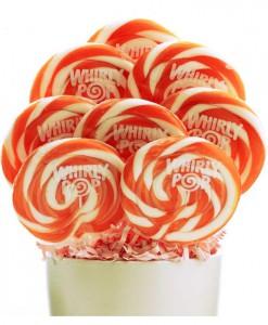 Orange and White Whirly Pops