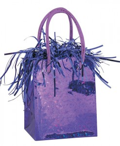 Mini Gift Bag Balloon Weight - Purple
