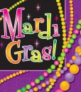 Mardi Gras Beads - Lunch Napkins (16 count)