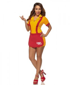 2 Broke Girls - Womens Waitress Dress Costume