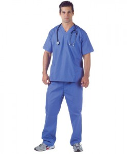 Hospital Scrubs Plus Size Adult Costume