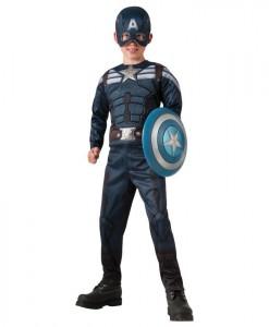 Captain America Winter Soldier - 2-1 Reversible Stealth/ Retro Captain America Child Costume