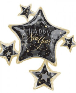 New Year Cluster 35 Foil Balloon