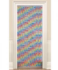 Fabric Flower Door Curtain