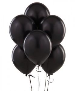 Black Latex Balloons (6 count)