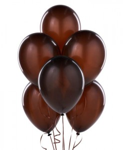 Brown 11 Latex Balloons (6 count)