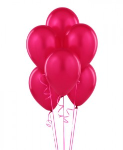 Hot Pink 11 Latex Balloons (6 count)