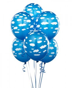 Mid Blue with Clouds 11 Matte Balloons (6 count)
