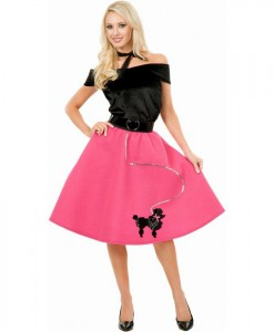 Poodle Skirt  Top Scarf Adult Plus Costume