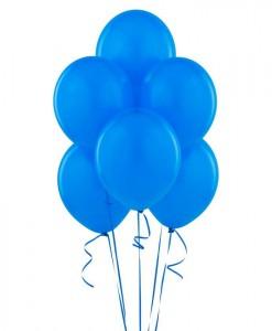 True Blue (Blue) 11 Matte Balloons (6 count)