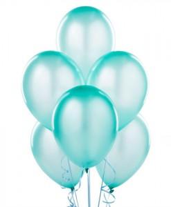 Silk Seafoam Blue 11 Latex Balloons - 6 count