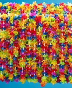 Silk 'N Petals Rainbow Floral Leis (50 count)