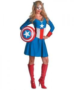 Captain America Female Classic Adult Costume