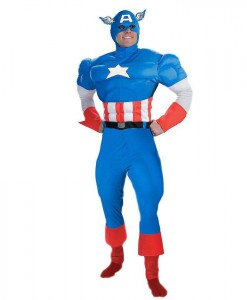 Captain America Deluxe Muscle Teen Costume