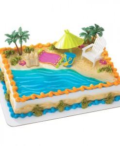 Beach Chair Umbrella Cake Decorations