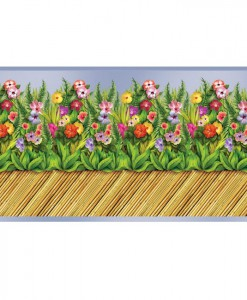 30' Tropical Flower Bamboo Wall Border Roll