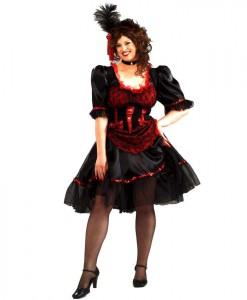Saloon Girl Adult Plus Costume