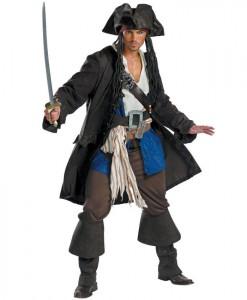 Pirates of the Caribbean - Captain Jack Sparrow Prestige Adult Costume