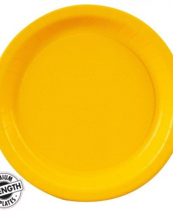 School Bus Yellow (Yellow) Dessert Plates (24 count)