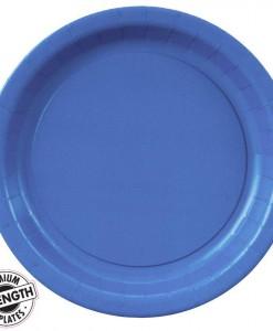 True Blue (Blue) Paper Dessert Plates (24 count)