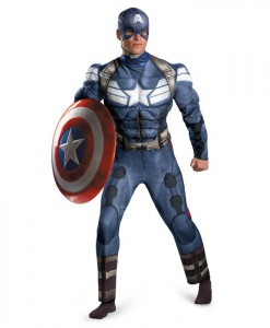 Captain America The Winter Soldier - Captain America Muscle Chest Costume