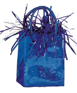 Mini Gift Bag Balloon Weight - Royal Blue