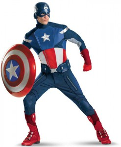 The Avengers Captain America Elite Adult Costume