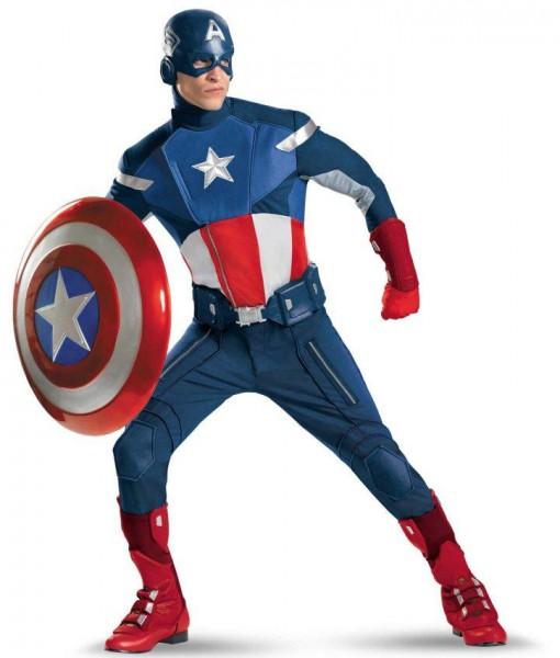 The Avengers Captain America Elite Adult Plus Costume