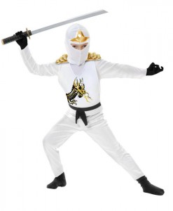 White Ninja Avengers Series II Toddler Costume