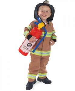 Firefighter Tan Child Costume